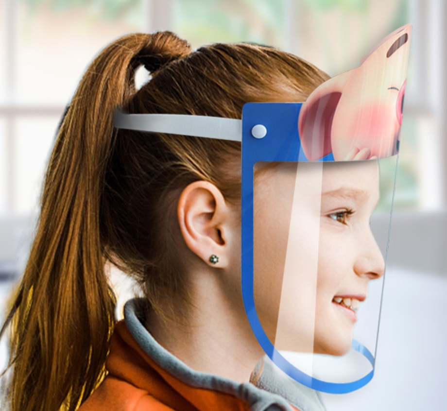 Children Transparent safety face shield